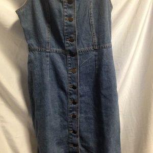 Size 4 Denim Button Up Dress